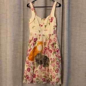 Anthropologie Cat Floral Tea Dress